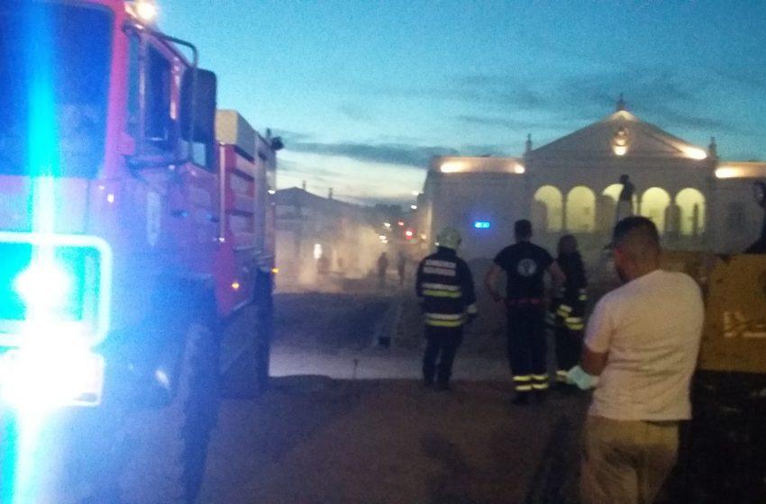 Reguengos: Bombeiros chamados para apagar fogo na Praça da Liberdade
