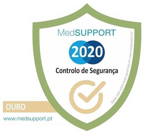 """Clireg recebe selo""""MedSUPPORT Controlo deSegurança 2020"""""""