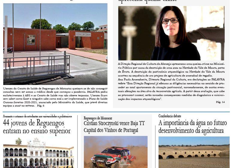 Edição de outubro do jornal PALAVRA sai amanhã